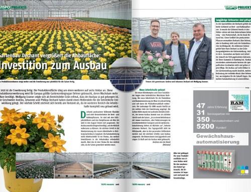 Taspo Projekte: Gartenbau Dechant vergrößert die Anbaufläche