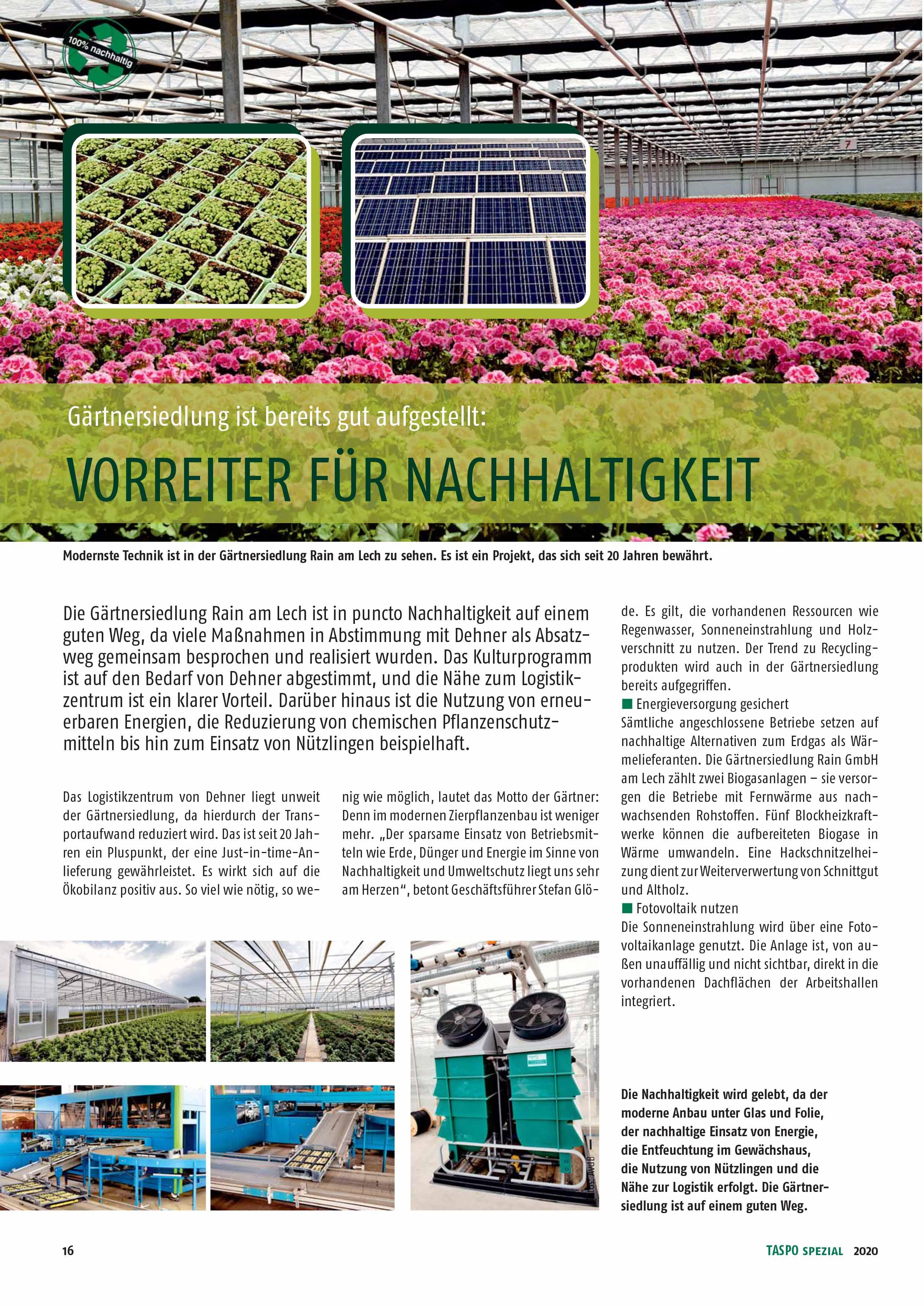 TASPO Spezial Nachhaltigkeit 03.04.2020