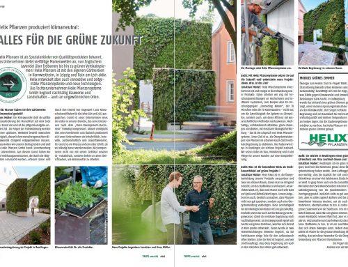 """TASPO spezial """"Nachhaltigkeit 2021"""" – Helix Pflanzen produziert klimaneural"""